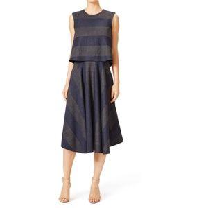 NWT TIBI Horizon Striped Wool Blend Dress